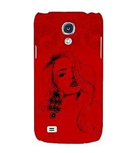 Stylish Girl 3D Hard Polycarbonate Designer Back Case Cover for Samsung Galaxy S4 Mini i9190