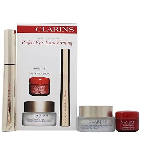 Clarins Perfect Eyes Extra Firming Confezione Regalo 15ml Extra Firming Crema per Rughe Contorno Occhi + 7ml Wonder Perfect Mascara + 4ml Instant Smooth Perfecting Touch