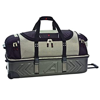 Athalon Luggage Molded Wheeling CarryOn Detachable Duffel Bag (Platinum, 21-Inch)