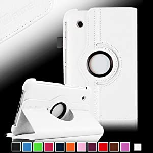 Fintie 360 Degree Rotating Stand Case Cover for Samsung Galaxy Tab 7.0 Plus / Samsung Galaxy Tab 2 7.0 inch Tablet - White