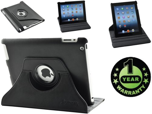 Alpatronix Landtrait Protective Vegan Leather Case And 360 Degrees Rotating Cover With Stand For Apple Ipad 2 / 2Nd Generation Wifi 3G Models: 16Gb, 32Gb, 64Gb Features: High Quality Pu Leather / Soft Interior Lining / Multi-Angle Viewing Horizontal Or Ve