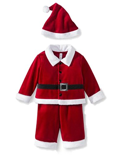 Cherokee Infant Boys & Girls Red Velvet Santa Suit & Christmas Hat