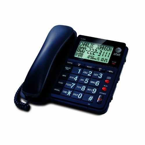 AT&T CL2939 Corded Phone, Black, 1 Handset
