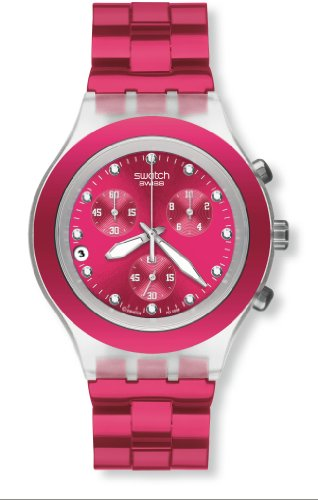 Swatch Ladies Watch Full Blooded Raspberry SVCK4050AG