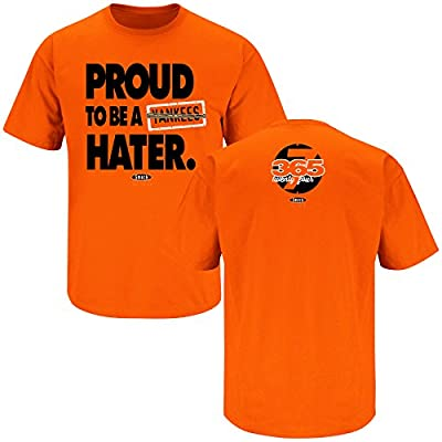 Baltimore Orioles Fans. Proud to be a Hater Orange T-Shirt (S-4X)