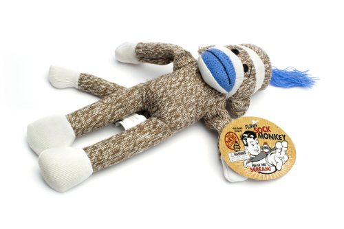 Flying Sock Monkey Assorted with Screaming Sound (one piece)