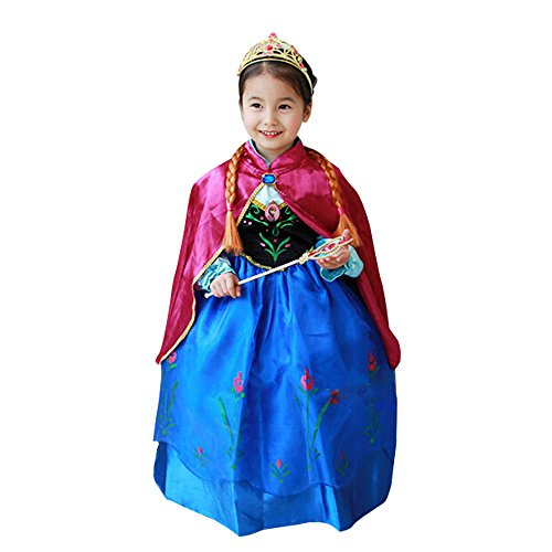 Halloween Kid Princess Frozen Character Little Girl Costume Cosplay Outfit Dress