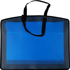 Filexec Carry All Bag, In-Side Pocket, Business Card Slot, Zippered Closure, Blue (34971)