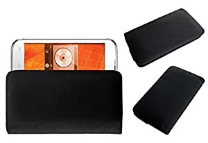 Acm Rich Leather Soft Case For Micromax Music A88 Mobile Handpouch Cover Carry Black