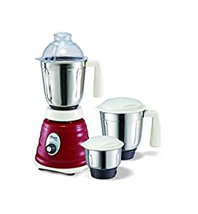 Oster 8020 750-Watt 3 Speed Beehive Mixer Grinder with 3 Jars (White/Red)