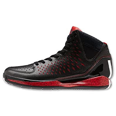 1071ca419ea Best offers discount basketball shoes Adidas AdiZero Rose 3.0 Black red  colors combination Derrick Bulls away price review in USA online store here.