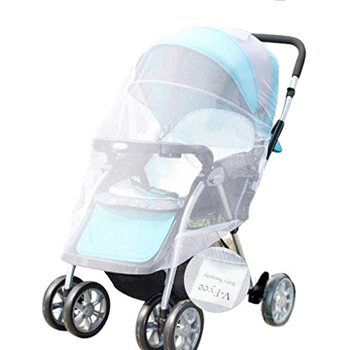 Mosquito Net, V-FYee Bug Net for Baby Strollers Infant Carriers Car Seats Cradles, White