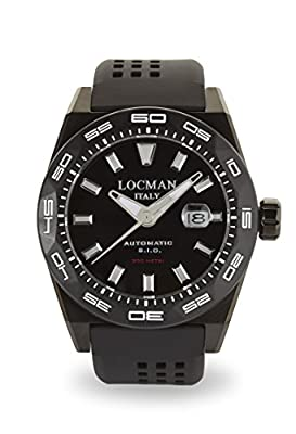 Locman Men`s Stealth 0215V4-KKCKNKS2K Acc / Tit 300mt Automatic Pvd Bk