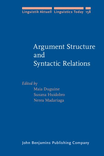 Argument Structure and Syntactic Relations: A cross-linguistic perspective (Linguistik Aktuell/Linguistics Today)