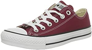 CONVERSE Unisex-Adult Chuck Taylor All Star Core Ox Trainers 015810-610-18 Bordeaux 11 UK, 45 EU