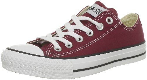CONVERSE Unisex-Adult Chuck Taylor All Star Core Ox Trainers 015810-610-18 Bordeaux 7.5 UK, 41 EU