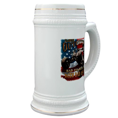 Stein (Glass Drink Mug Cup) All American Outfitters Bad Ass Boys Play Bad Toys