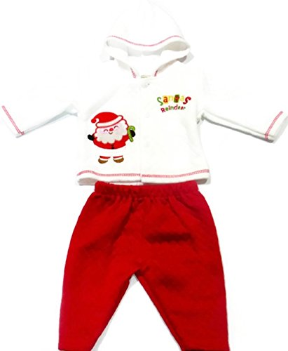 Baby First Christmas Outfit for Boys or Girls Infant 0-3 Months (Santas Reindeer)