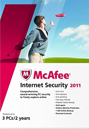 McAfee Internet Security 2011 3-User 2 Year Product Key Card [Old Version]