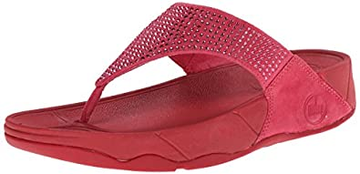 FitFlop Women's Rokkit Flip Flop, Raspberry, 5 M US