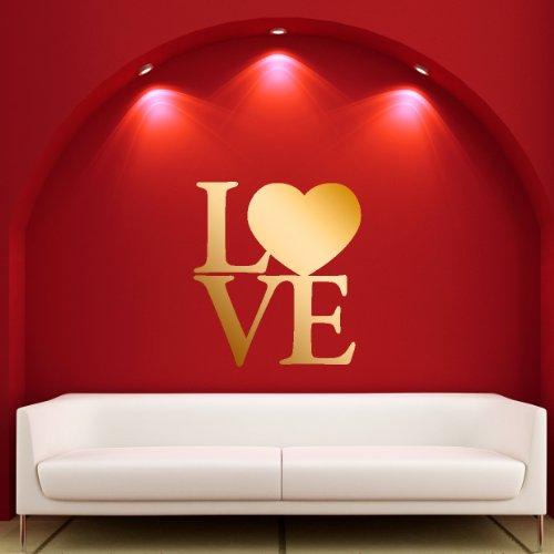 Lover Oro - Adesivi Murali - Wall Stickers per la decorazione della casa e delle camerette