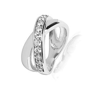 Rafaela Donata - Bague - Argent sterling 925 oxyde de zirconium - Bijoux pour femmes - En plusieurs tailles, bague oxyde de zirconium, bijoux en argent - 60800241