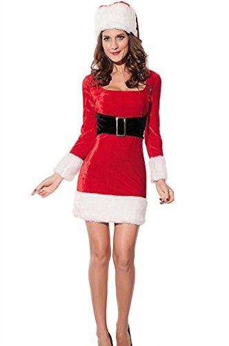 Women's Mrs Santa Claus Christmas Costume Dress Medium