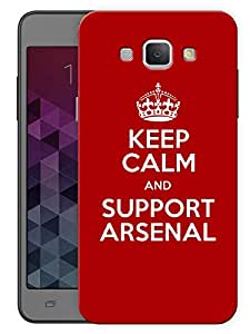 """Keep Calm And Support Soccer Club Printed Designer Mobile Back Cover For """"Samsung Galaxy A8"""" (3D, Matte, Premium Quality Snap On Case)"""