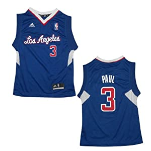 NBA LOS ANGELES CLIPPERS PAUL #3 Youth Pro Quality Athletic Jersey Top by NBA