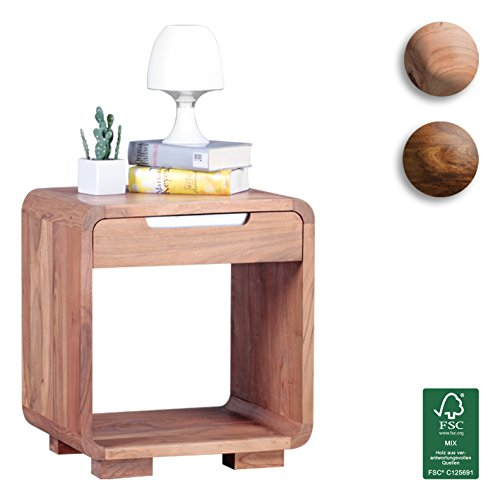 FineBuy-Design-Nachttisch-Massivholz-Akazie-Nacht-Kommode-50-cm-mit-Schublade-Boxspringbett-Deko-Nachtkstchen-Natur-Holz-massiv-dunkel-braun-Nachtkonsole-Landhaus-Stil-Schlafzimmer-Mbel-Nachtschrank