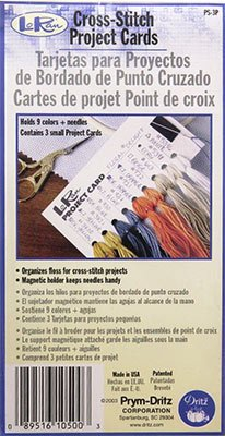 Dritz LoRan Cross Stitch Project Cards 3-Pack: 5-1/4x2-3/4