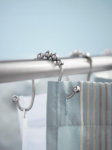 Metal shower curtain hooks