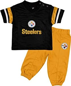 Pittsburgh Steelers Toddler Short Sleeve Football Jersey & Pant Set at Steeler Mania