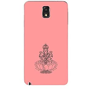 Skin4gadgets Maa Laxmi - Line Sketch on English Pastel Color-Peach Phone Skin for SAMSUNG GALAXY NOTE 3