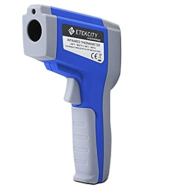 Etekcity Lasergrip 1022 Non-contact Digital Laser Infrared Thermometer -58?~1022?( -50? ~ 550?) with Adjustable Emissivity & MAX Display, Blue from Etekcity