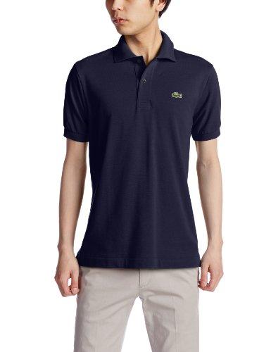 (ラコステ)LACOSTE ラコステ L.12.12 ポロシャツ (無地・半袖) L1212A 166 ダークブルー 002