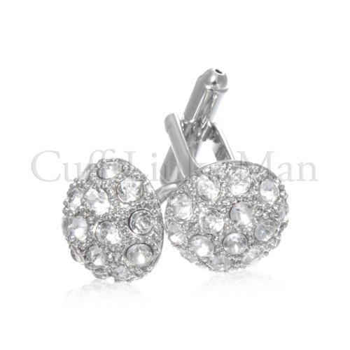 Round CZ Cuff Links-CL-0029