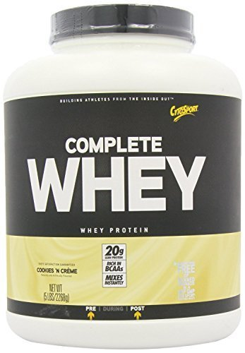 CytoSport Complete Whey 2268 g Cookies and Cream Protein Shake Powder by CytoSport