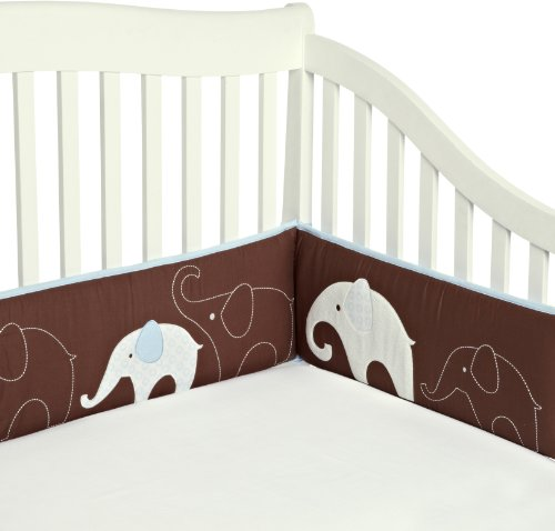 Carter's All Around Bumper, Blue Elephant (Discontinued by Manufacturer) - 1