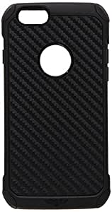 Eagle Cell Hybrid TPU Protective Case for Apple iPhone 6 - Retail Packaging - Black Carbon