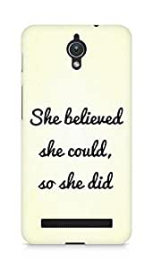AMEZ she believed she could so she did Back Cover For Asus Zenfone C ZC451CG