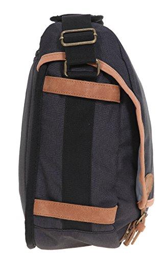 BESTWAY-Tasche-Vintage-COLLEGE-Schultertasche-A4-mit-Laptopfach-Schlelmppchen-Leder-Schwarz-0100