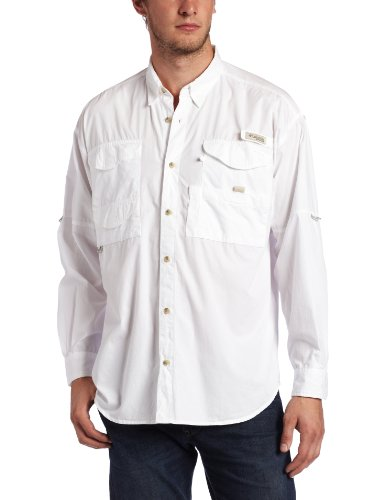 Columbia Men's Bonehead Long Sleeve Shirt,White,Medium