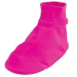 Sun Smarties Girls UPF 50+ Non-Skid Sand and Water Beach Socks Large Hot Pink