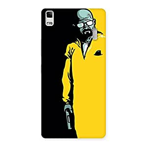 Ajay Enterprises Extant Yellow Standing Man Back Case Cover for Lenovo K3 Note