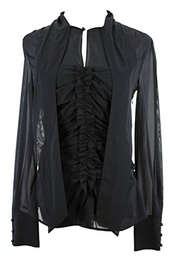 max-mara-long-sleeve-womens-blouse-size-8-regular-black-silk
