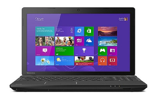 Toshiba C55-A5281 16 Inch Laptop (2.4 GHz Intel 2020M Processor, 6GB RAM, 750GB Hard Drive, SuperMulti DVD Burner, Windows 8)