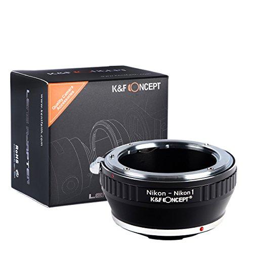 K&F Concept Lenti Adattatore, Nikon Nikkor Lenti / per Nikon Camera 1-Series, per Nikon V1, V2, J1, J2 mirrorless fotocamere