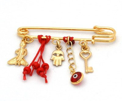 The Little Prince Baby Pin Luck Charms In Red front-935926