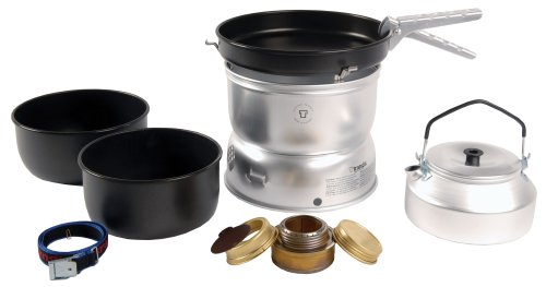 Trangia 25 Non-Stick Cookset With Kettle  &  Spirit Burner